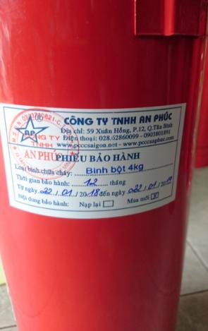 Bình chữa cháy mới 100% được bảo hành 12 tháng