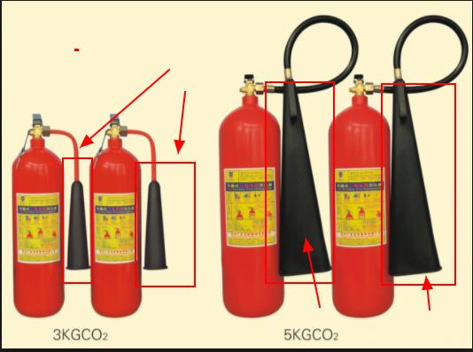 Bình chữa cháy CO2 có ống loe to hơn