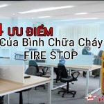 4 ưu điểm tuyệt vời khi sử dụng bình chữa cháy mini Fire Stop cho gia đình hay văn phòng