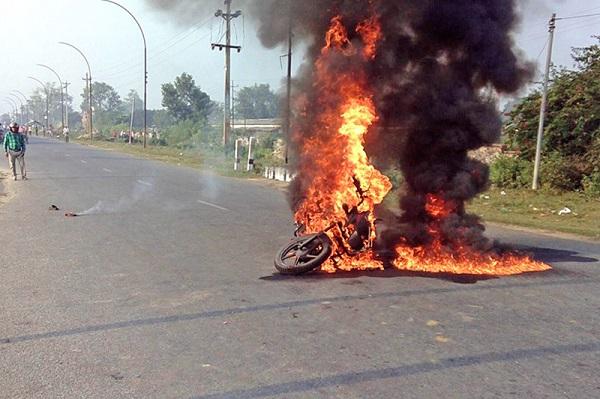 Cháy xe máy do bình xăng