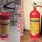 So sánh bình chữa cháy bột MT3 và MFZ4 cái nào tốt hơn?