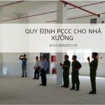 Quy định PCCC cho nhà xưởng như thế nào?