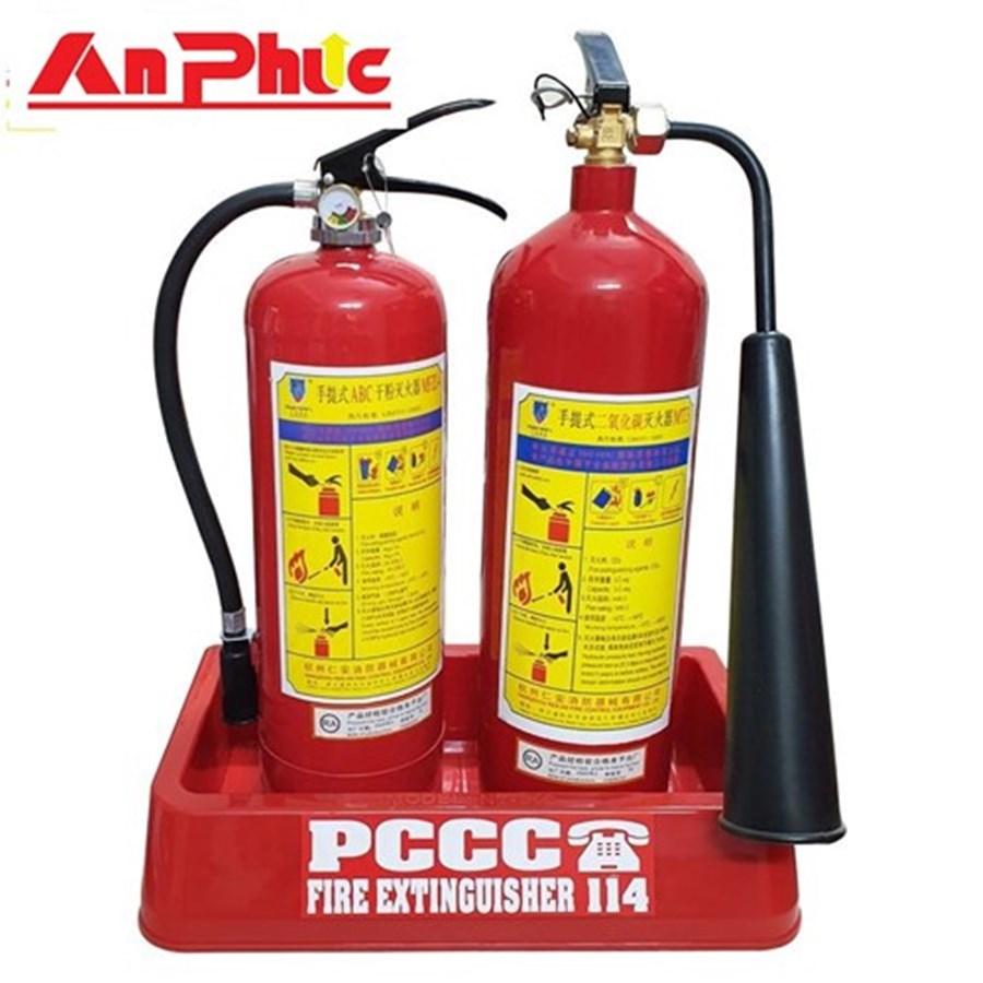 Combo bình chữa cháy4 kg ABC và khí 3 kg